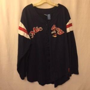 Mickey Mouse baseball jersey, Size 18W/20W